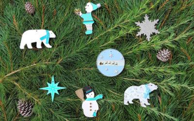 Réalisez facilement un sapin de Noël polaire avec des formes en bois