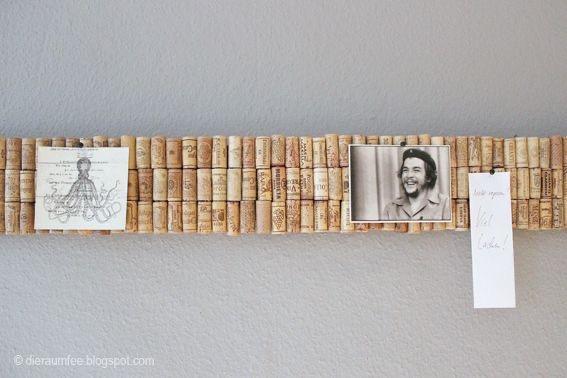Porte photo décoration en bouchons en liège