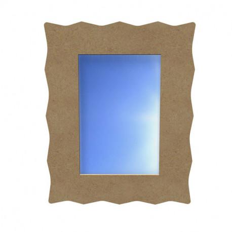 Miroir rectangle dentelle en bois à decorer