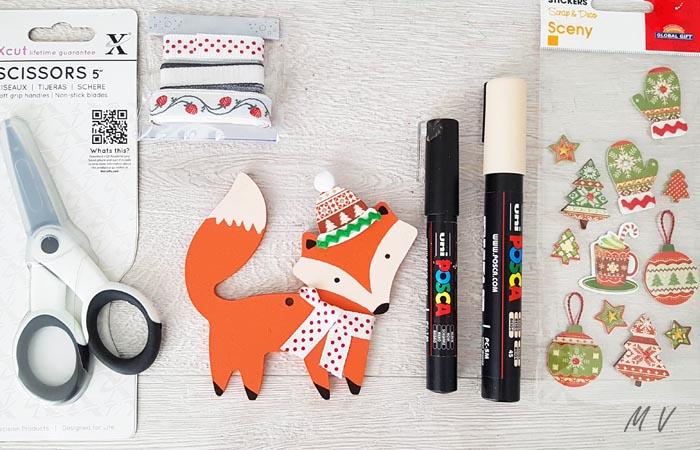 renard à décorer pour le sapin Noël automne