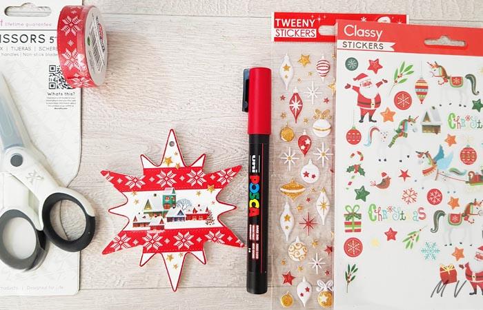 étoile de Noël à décorer pour le sapin de noël authentique