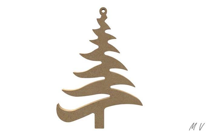sapin zig zag à décorer pour Noël
