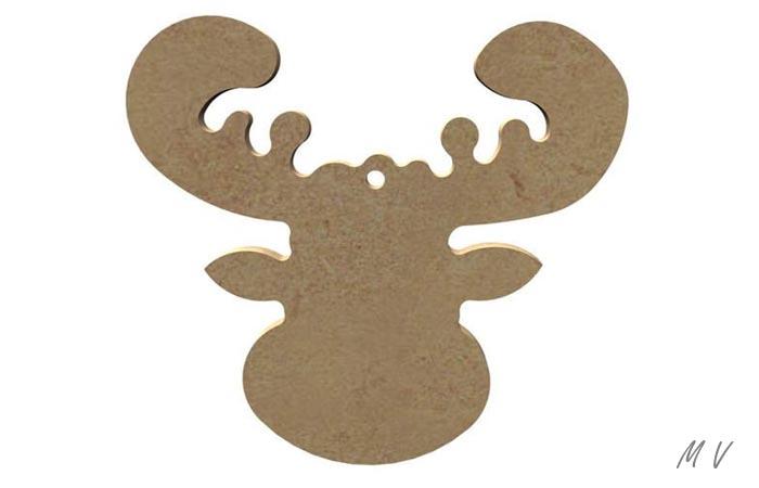tête de caribou en bois pour Noël