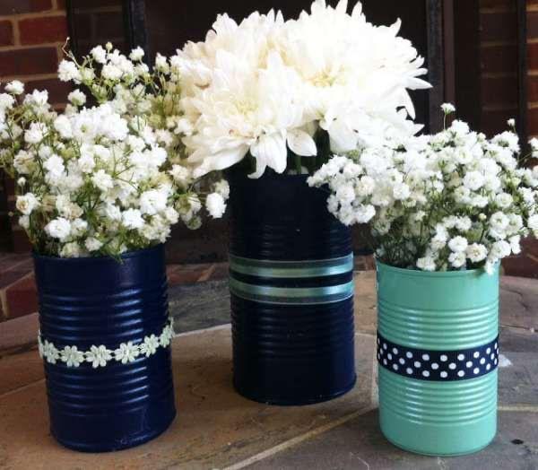 pot de fleurs diy ruban